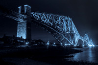 Forth Bridge in blue